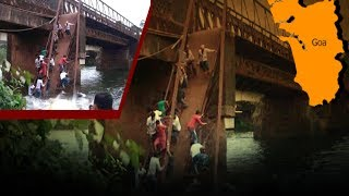 Footbridge collapses, 2 Dead and several missing