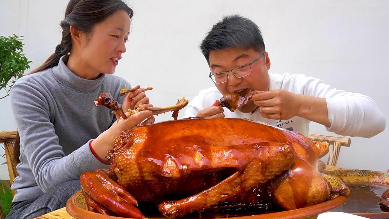 """200元买只8斤的大鹅,大sao为这顿""""卤鹅""""等了一周,太馋人了!【徐大sao】"""