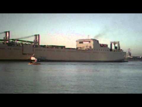 US Navy Ship Pulls into 32ND Street Naval Station, San Diego, California