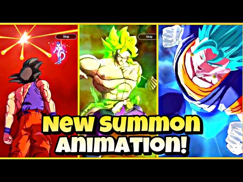 🔥 NEW BROLY AND VEGITO BLUE SUMMON ANIMATION!!! Dragon Ball Legends