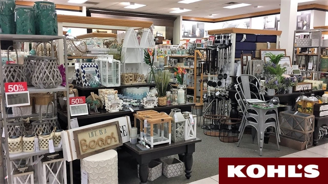 KOHL'S SPRING SUMMER HOME DECOR - SHOP WITH ME SHOPPING ...