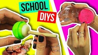 PRANK DIYs: SCHULSACHEN aus SCHMINKE! 😮💋 BACK TO SCHOOL HACKS für SCHÜLER!