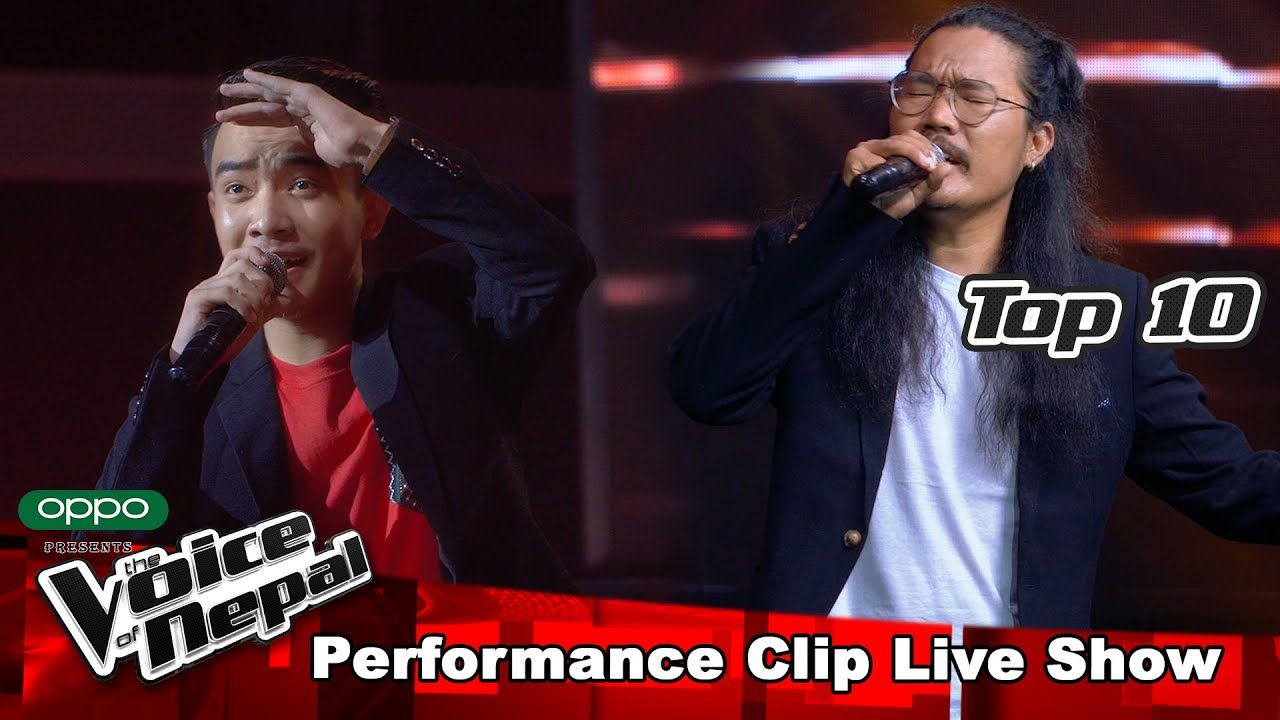 "Gobin Pun & Aryan Tamang ""Tunguna Ko Dhun Ma"" | LIVE Show Performance | The Voice of Nepal S3"