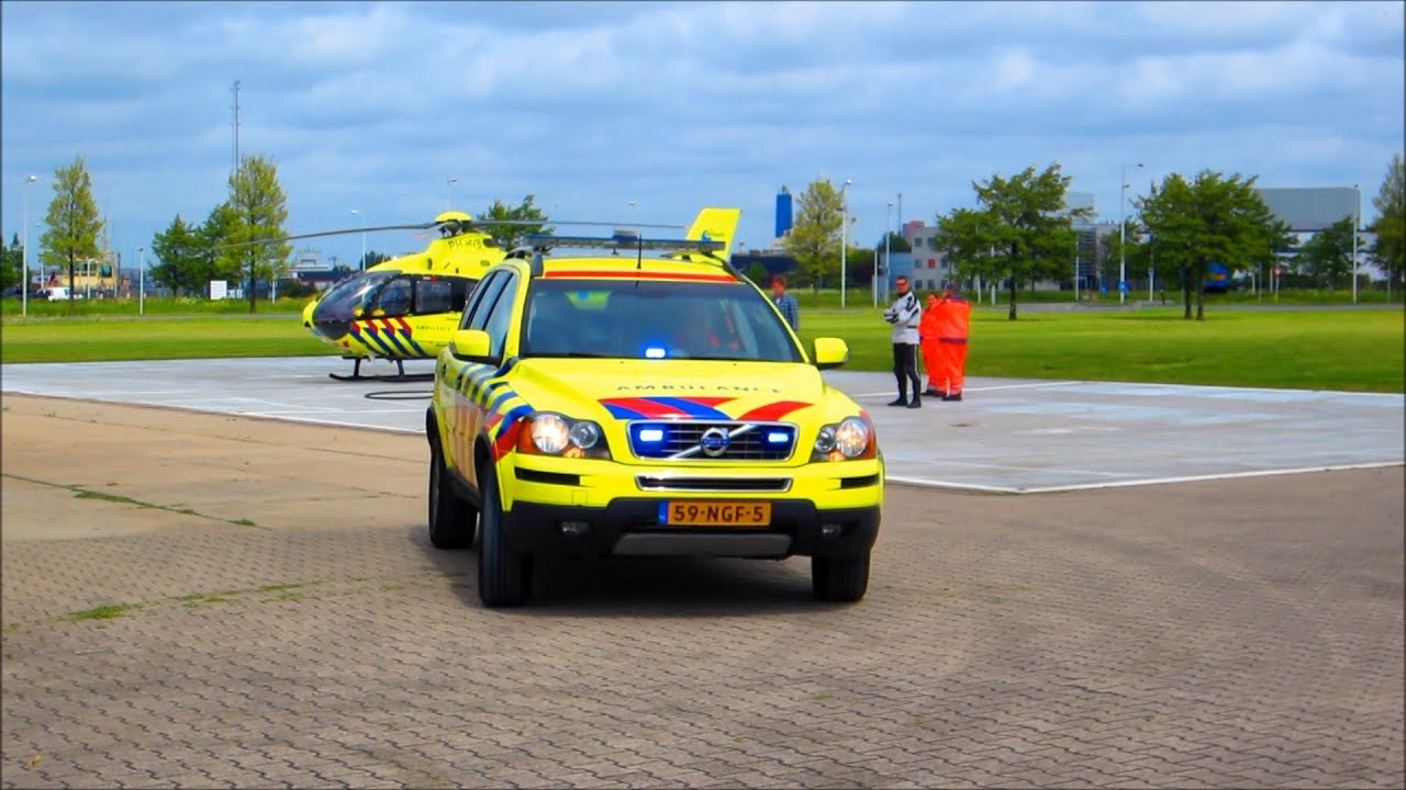A1 Mmt Volvo Vertrekt Met Spoed Vanaf Heliport Amsterdam