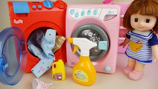 Washing machine play and Baby Doll Orbeez Surprise eggs toys