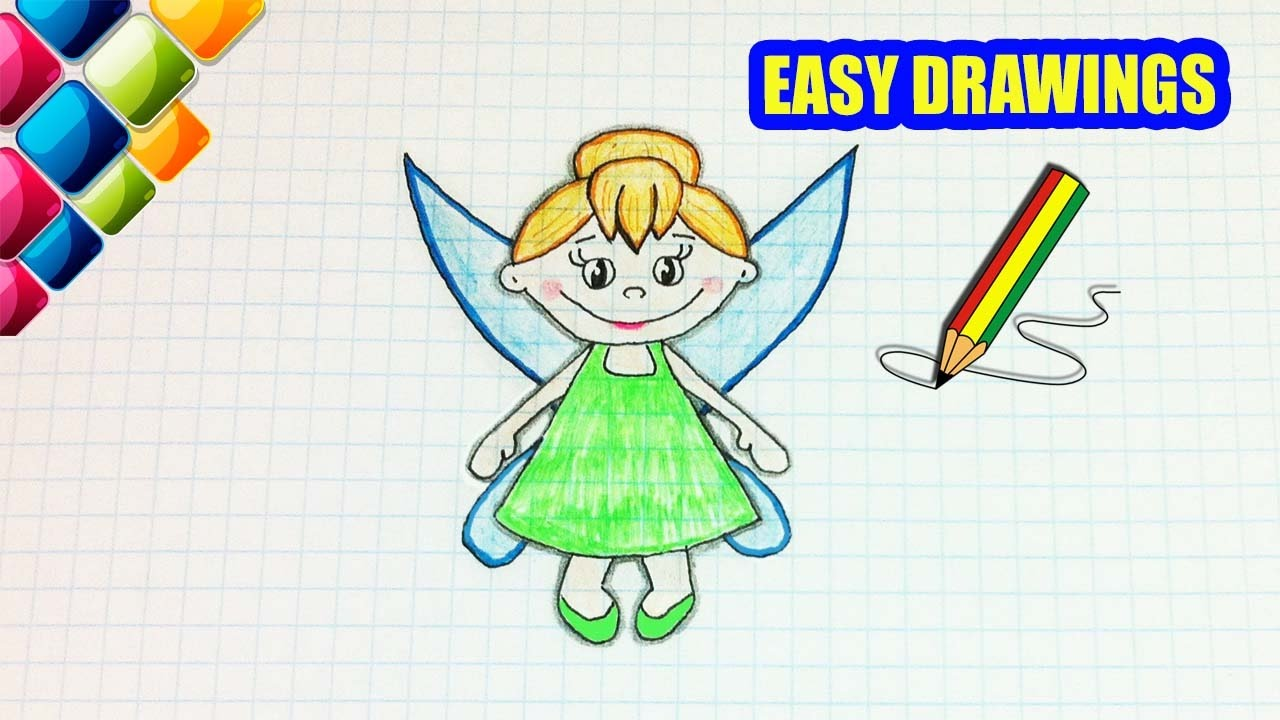 easy drawings 251 how to draw a little fairy drawings for