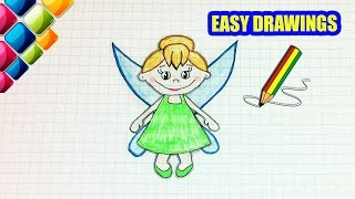 Easy drawings #251  How to draw a little fairy / drawings for beginners