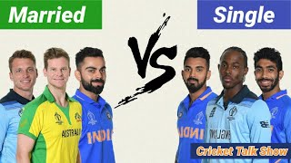 Married VS Single Team Comparison -WHO'S strong | CRICKET TALK SHOW
