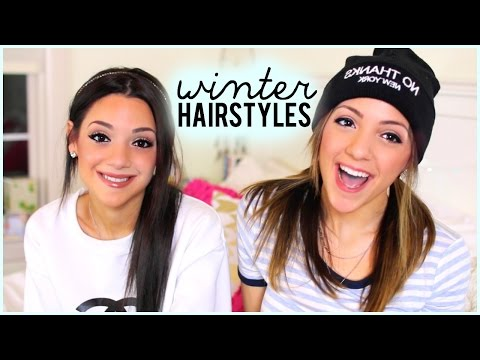 4 Quick and Easy Hairstyles For Winter With NikiAndGabiBeauty!