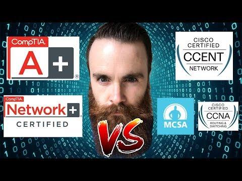 CompTIA Or Cisco? - Should I Get The CompTIA A+/Network+ OR The Cisco CCNA/CCENT - Microsoft MCSA?
