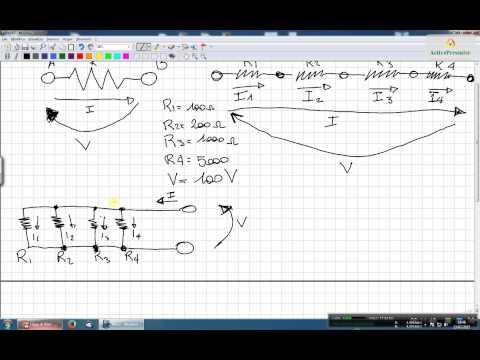 Legge di OHM - Resistenze serie e parallelo - Calcolo V - I - R