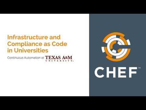 Infrastructure and Compliance as Code for Universities