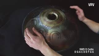 "Tongue Drum 18"" 9 notes - D Celtic video"