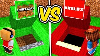SECRET PASSAGE OF MINECRAFT VS ROBLOX'S SECRET PASSAGE!