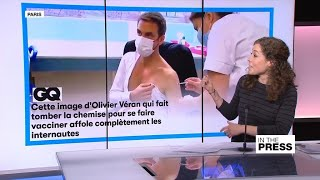 French health minister sends hearts aflutter with half-shirtless Covid-19 vaccination