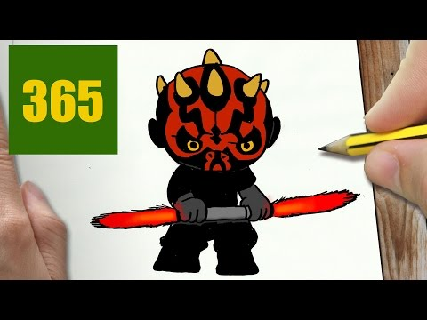 Comment Dessiner Darth Maul Kawaii étape Par étape Dessins