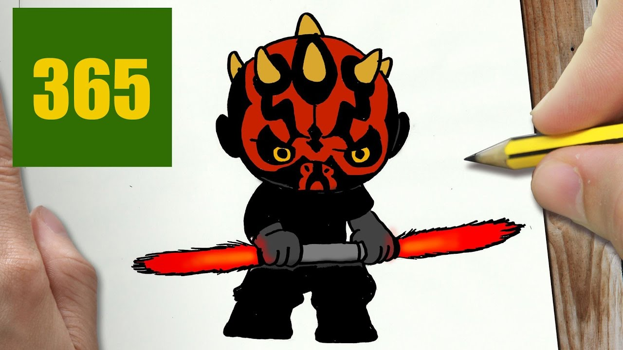 Comment Dessiner Darth Maul Kawaii étape Par étape Dessins Kawaii Facile