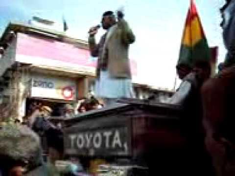 Mir Khursheed Jamaldini adressim in Nushki (BNP) N...