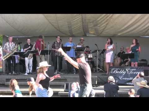 """""""Crying"""" -- The Bobby Torres Ensemble featuring Karla Harris at Cathedral Park in Portland, Oregon"""