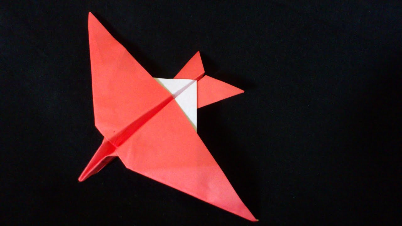 Cara Membuat Origami Pesawat Burung Jangkintut | Origami