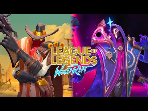 High Noon Jhin Skin VS Dark Cosmic Jhin Skin Comparison League of Legends Wild Rift