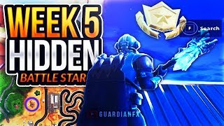 Fortnite Season 5 Week 5 - SECRET HIDDEN Battle Star LOCATION [Battle Trip: Free Battle Star]