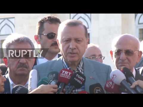 Turkey: Erdogan says he