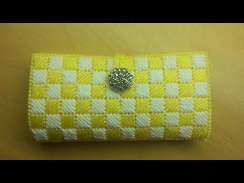 #Crochet #Clutch Wallet with plastic canvas #TUTORIAL #44 supersaver