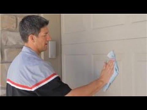 Garage Door Help How To Clean A Garage Door Youtube
