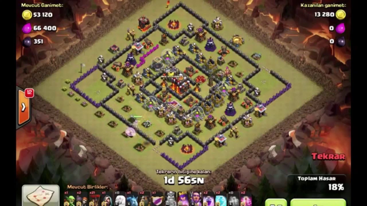 Clash of clans best th 11 attack strategy new update 2016