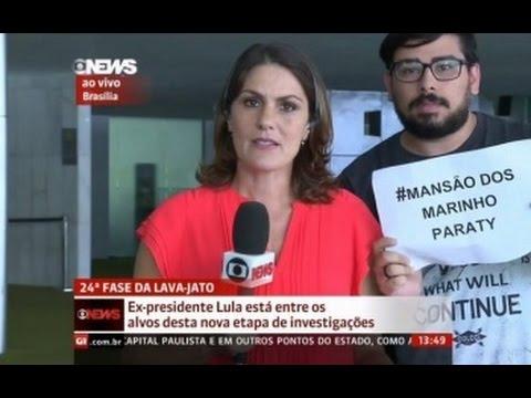 Homem aparece ao vivo na GloboNews criticando a Globo