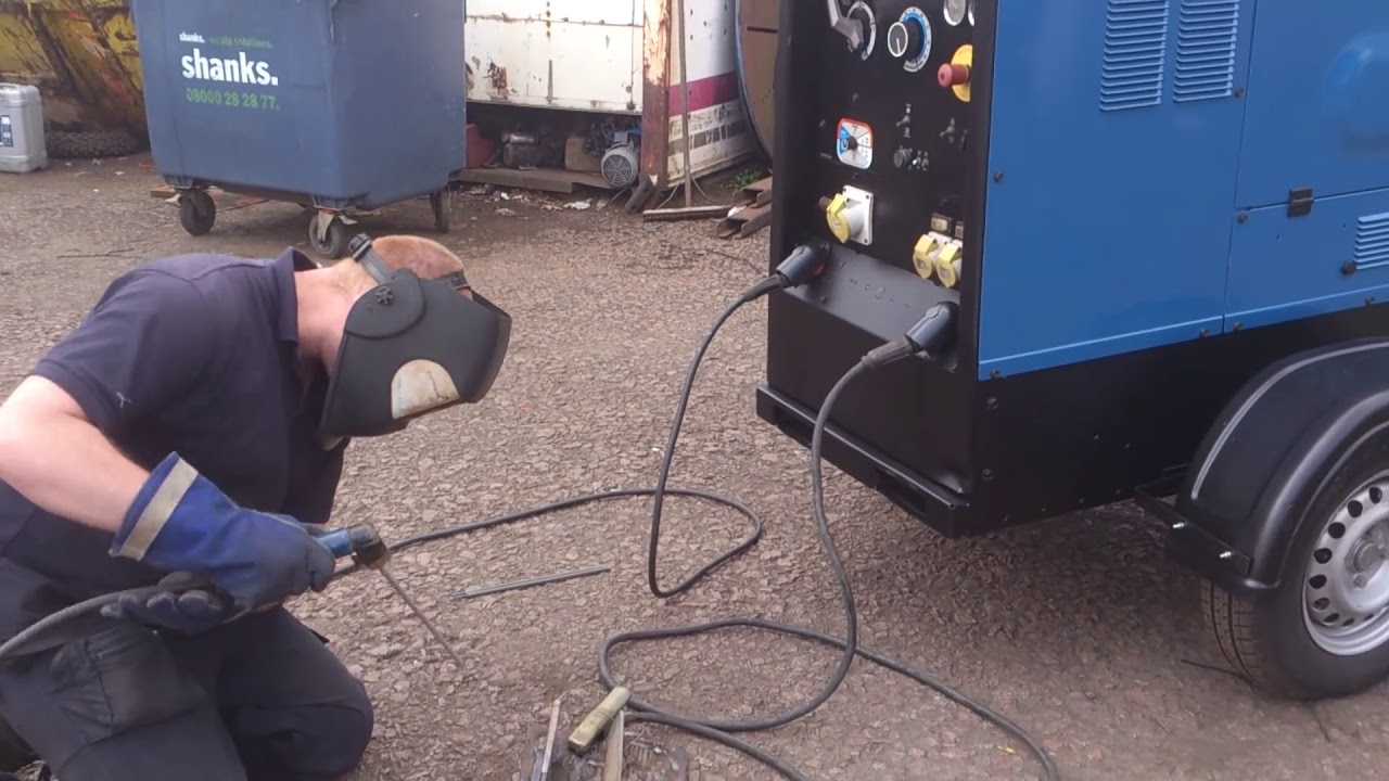 Hobart Welder Wiring Diagram 2002 Nissan Xterra Stereo Miller Big Blue 500x Diesel Welding Generator For Site Sale By Westermans - Youtube