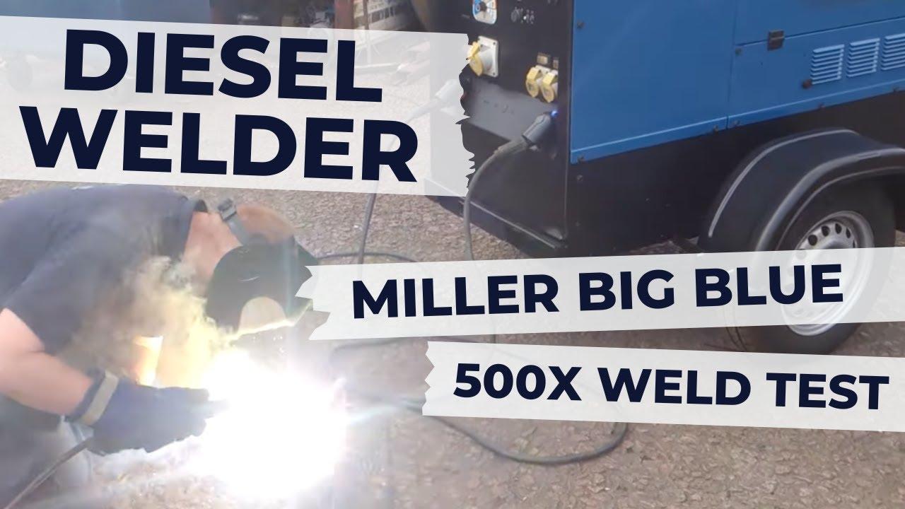 Miller Big Blue 500X Diesel Welding Generator for Site