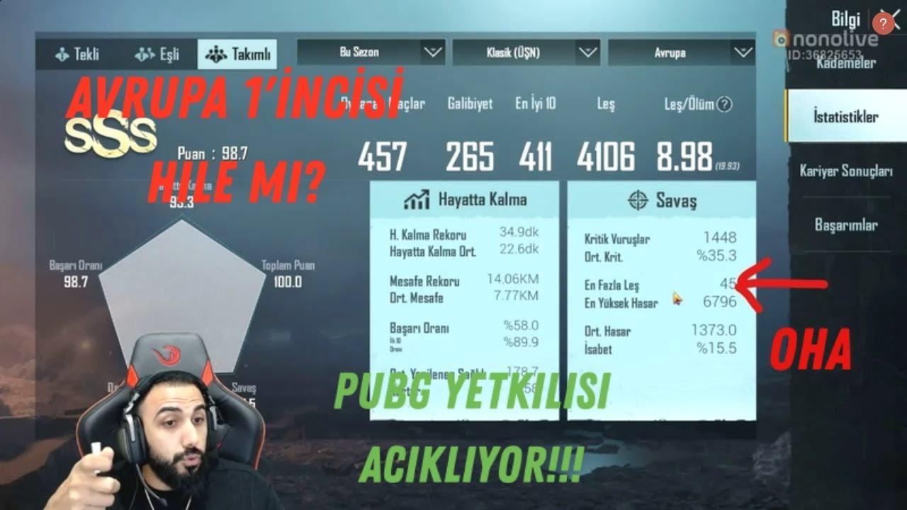 BARIŞ G PUBG MOBILE YETKİLİSİYLE BERABER AVRUPA 1'İNCİSİNİ İNCELİYOR!!! HILE AVI!!