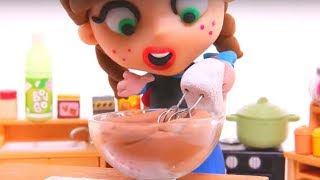 GEFRORENE ELSA & ANNA KOCH ❤ Superhelden-Babys Play-Doh Cartoons & Stop-Motion-Videos Für Kinder