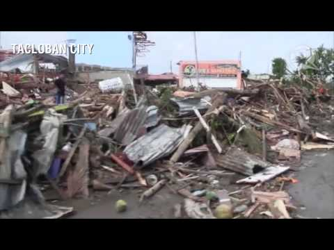 Tacloban devastated by super typhoon Yolanda (Haiyan) Travel Video