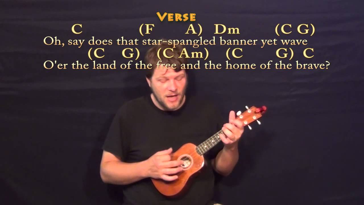 The Star Spangled Banner Ukulele Cover Lesson With Chordslyrics