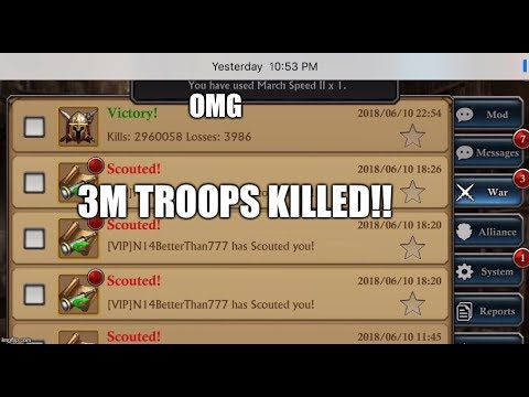 EPIC!!! 3m kills SH32 N14 forgotten shield - King of Avalon