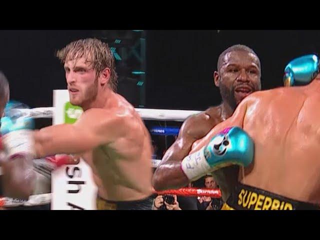 Logan Paul vs Floyd Mayweather Fight HIGHLIGHTS