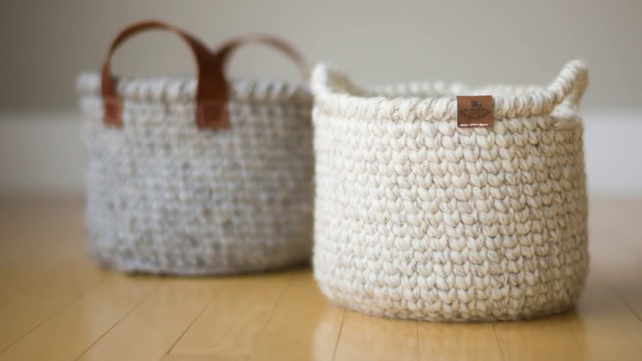 Waistcoat Crochet Basket Youtube