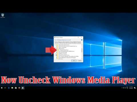 How to Uninstall Windows Media Player in Windows 10 -WORKS 100%!