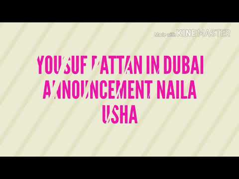 Yousuf pattan in Dubai Radio jockey NAILA Usha