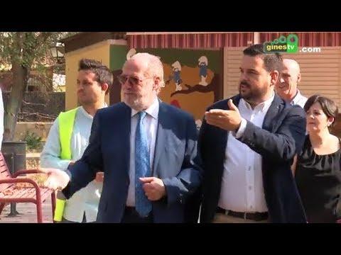 Rodríguez Villalobos conoce los proyectos de Gines en los que colabora la Diputación