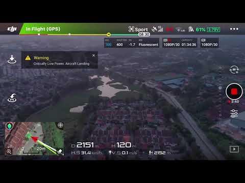 Dji Mavic Air Range Test 2 Sport mode In Malaysia ( Screen Recording )