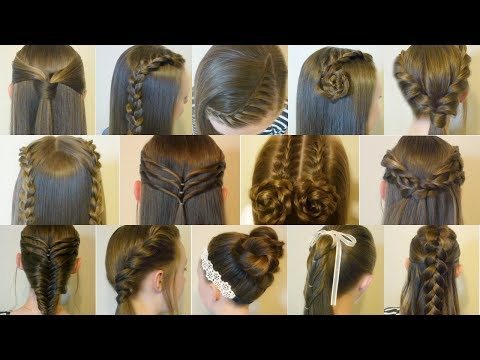 14 Easy Hairstyles For School Compilation