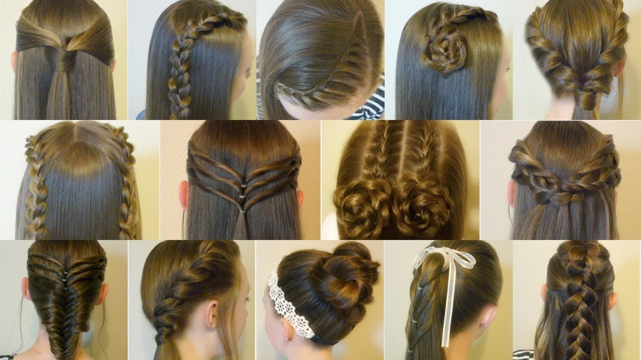 Cute Easy Hair Styles For Long Hair: 14 Easy Hairstyles For School Compilation! 2 Weeks Of