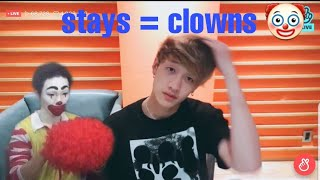 Stray Kids vines bc bangchan's hair is actually Grey and Stays are clowns