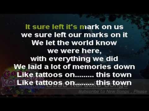 Tattoos On This Town  - Jason Aldean (Lyrics Karaoke) [ goodkaraokesongs.com ]