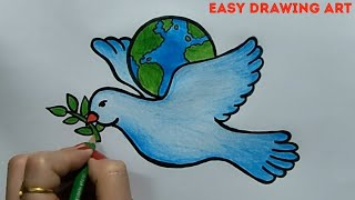 peace poster drawing    how to draw international peace day drawing