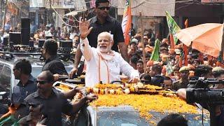 रांची में रोड शो प्रधान मंत्री मोदी का ,भारी भीड़ रोड शो में झारखंड की जनता में गजब का उत्साह